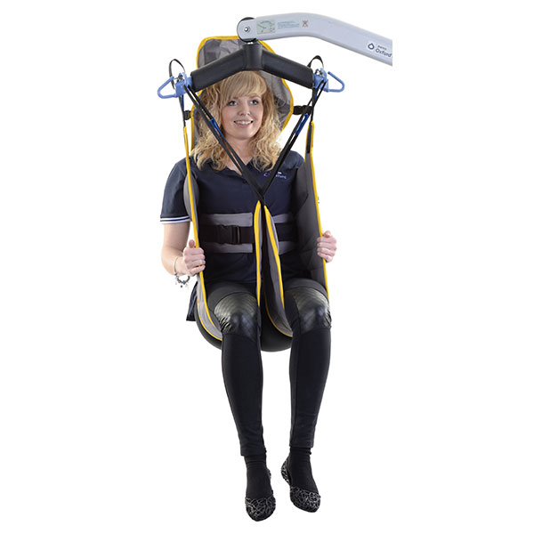 access padded toileting sling with head support