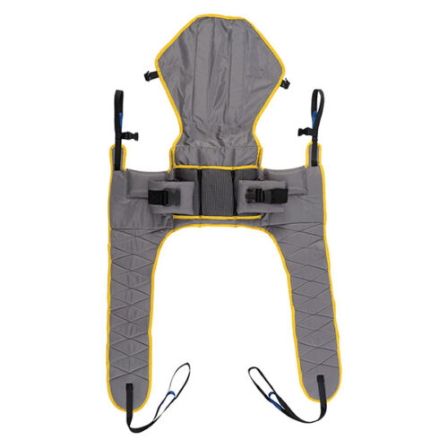 Access sling for toileting with head support
